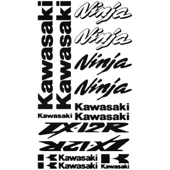 Kawasaki ZX-12R Ninja Stickers Car Motorbike Vinyl Decals